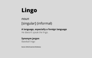 Definition of the word lingo